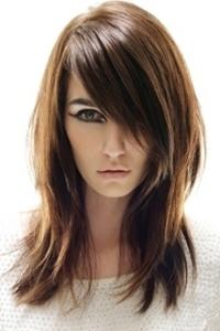 прическа на каскад на средние волосы фото